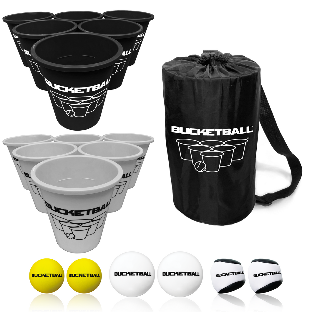 BucketBall - Team Color Edition - Combo Pack (Black/Silver) - BucketBall