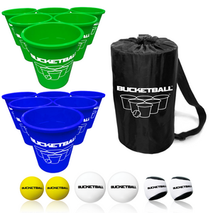 BucketBall - Team Color Edition - Combo Pack (Green/Navy Blue) - BucketBall