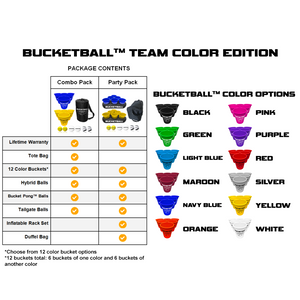 BucketBall - Team Color Edition - Party Pack (Maroon/White)