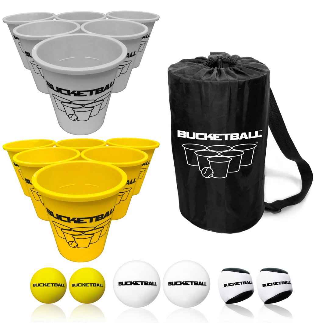 BucketBall - Team Color Edition - Combo Pack (Silver/Yellow) - BucketBall
