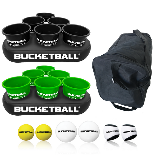 BucketBall - Team Color Edition - Party Pack (Black/Green) - BucketBall