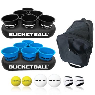 BucketBall - Team Color Edition - Party Pack (Black/Light Blue) - BucketBall