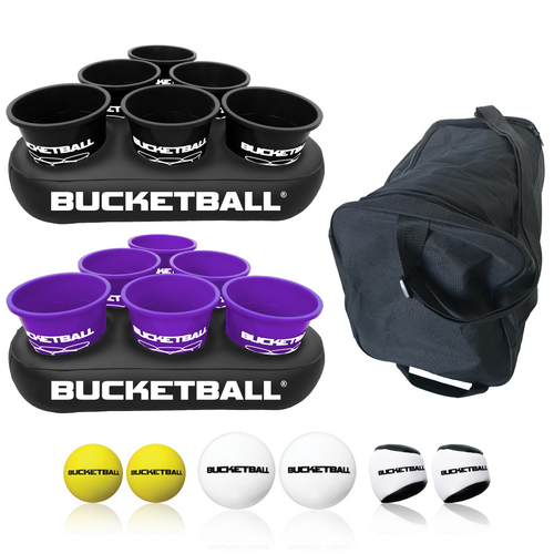 BucketBall - Team Color Edition - Party Pack (Black/Purple) - BucketBall