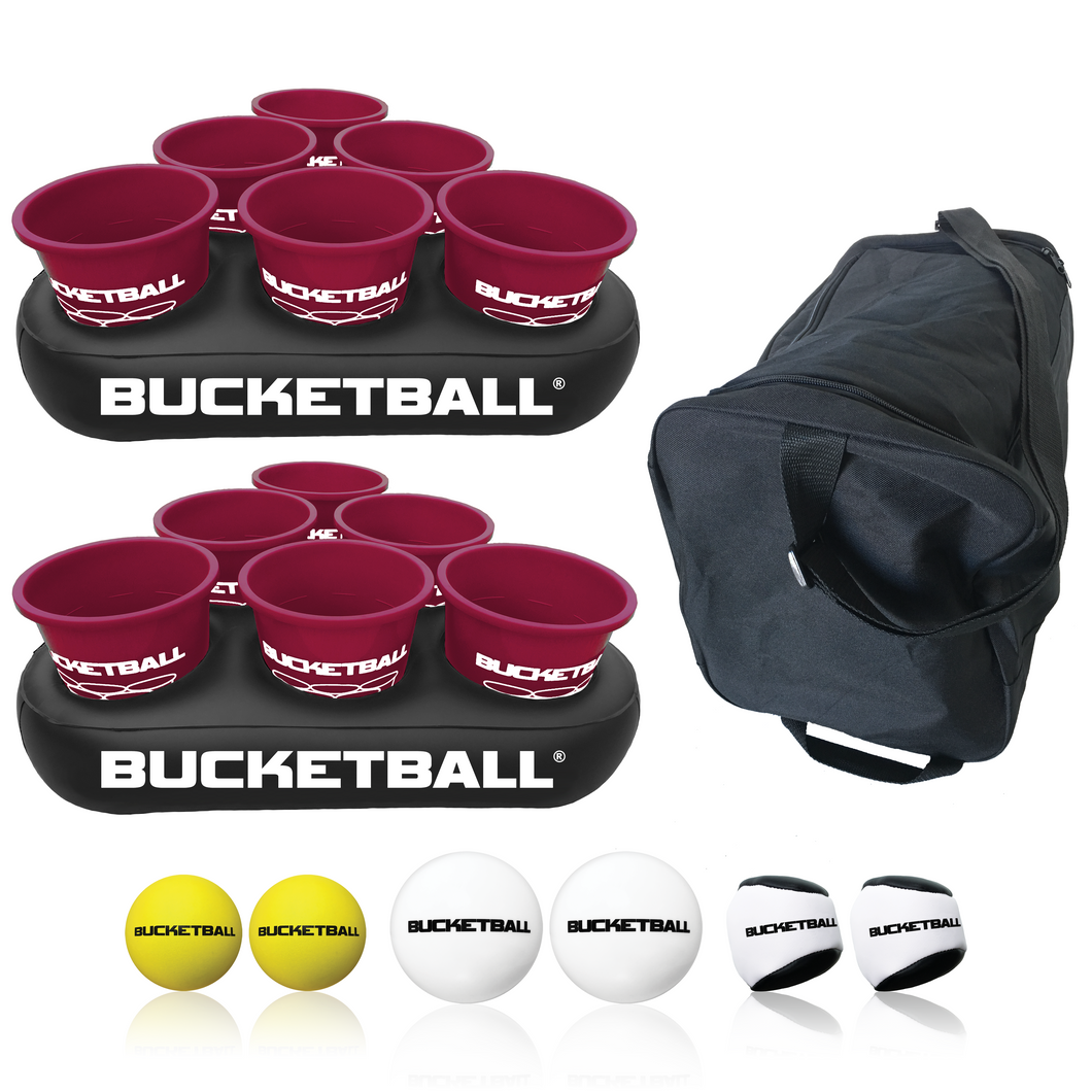 BucketBall - Team Color Edition - Party Pack (Maroon/Maroon) - BucketBall
