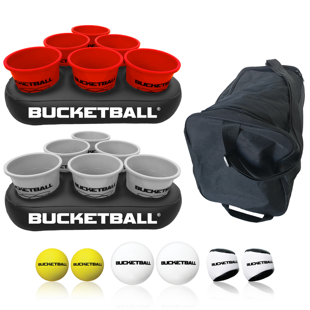 BucketBall - Team Color Edition - Party Pack (Red/Silver) - BucketBall