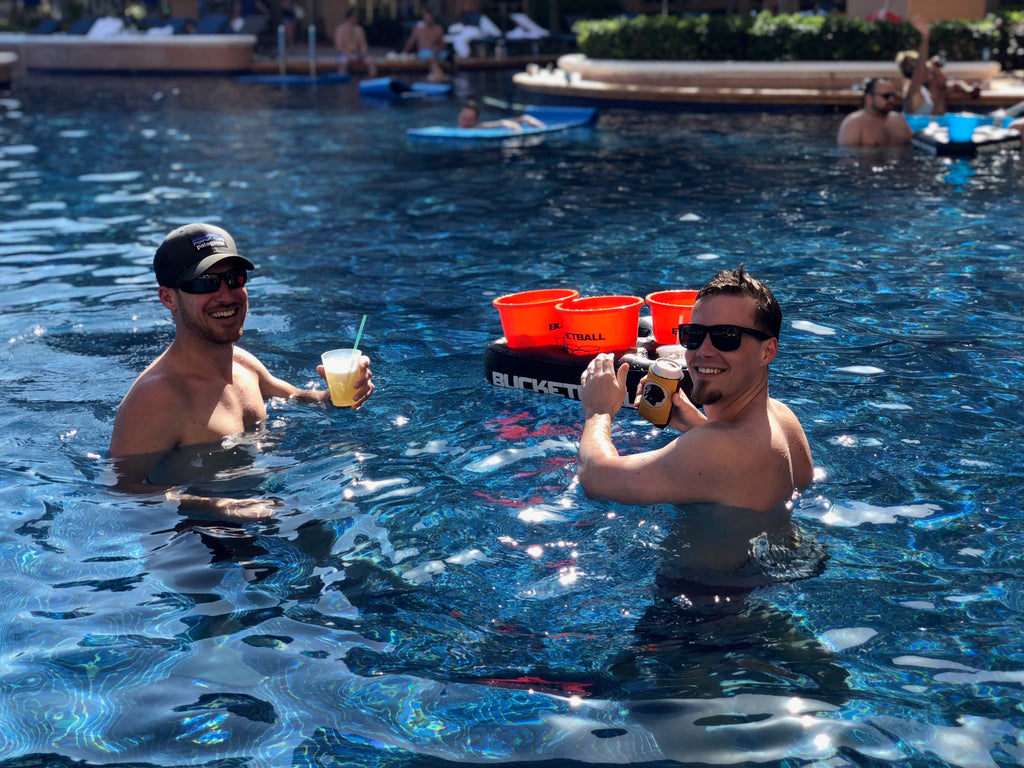 Beach Tailgate Pong in the Pool