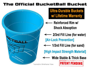 The Official BucketBall Bucket Features Blue