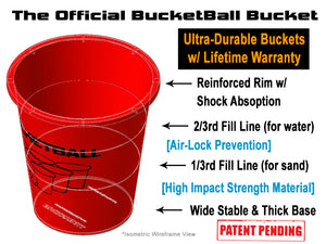 BucketBall™ - Giant Beer Pong™ Edition - Party Pack - BucketBall