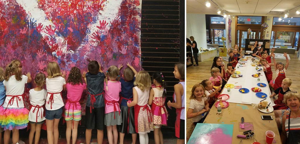 kids birthday party, kids art party, queens kids party