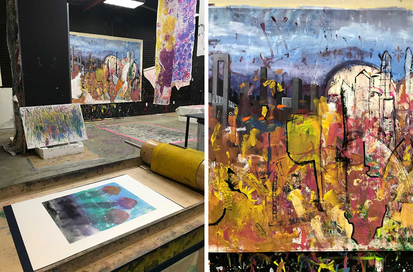collaborative art, kids art studio, collaborative painting