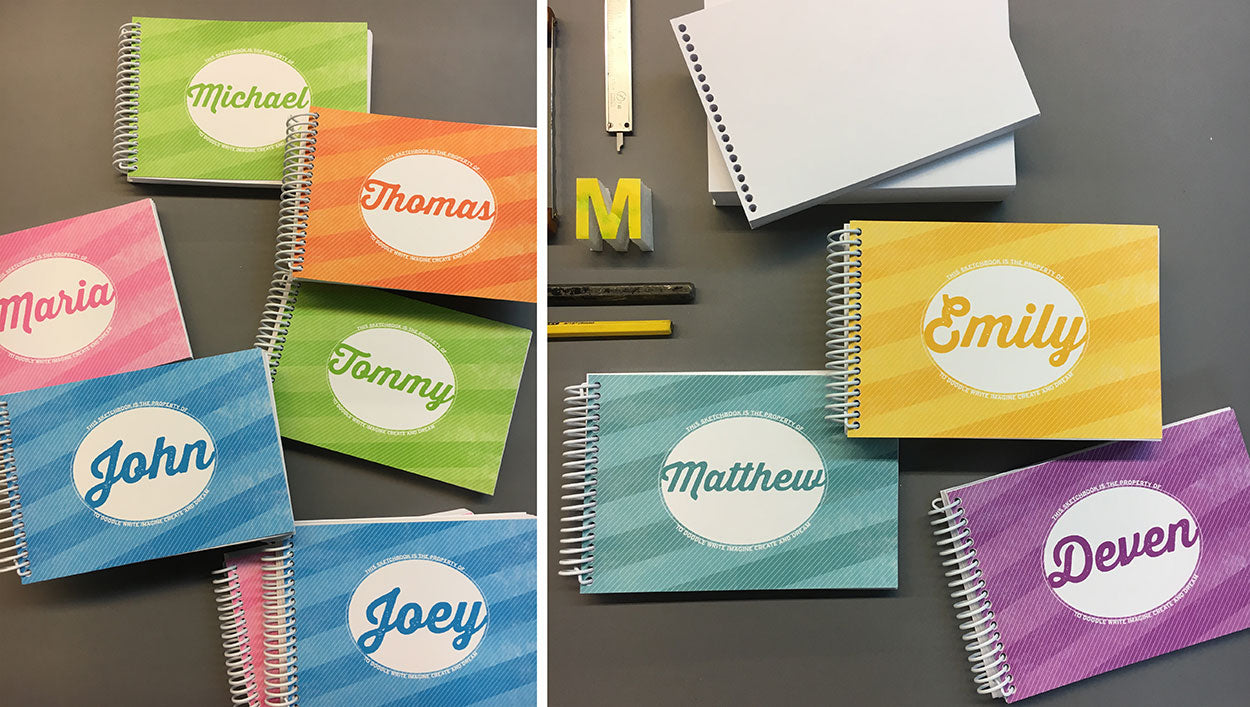 custom sketchbooks kids, personalized sketchbooks