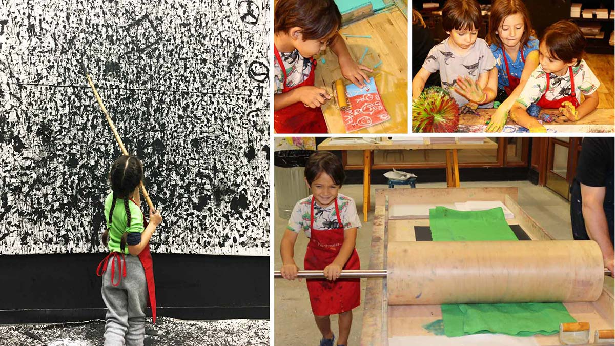 printmaking, kids art, kids art studio