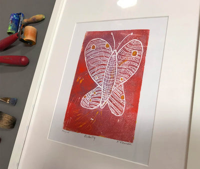 Butterfly monprint