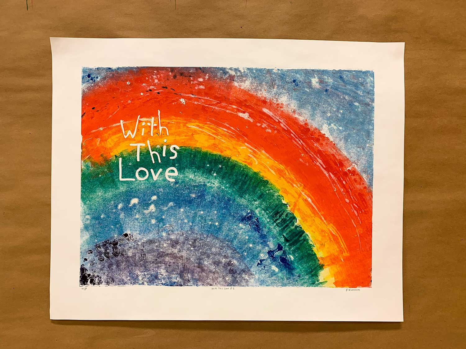 With this Love No. 5 - Monoprint