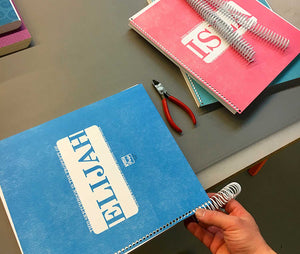 Extra-Large Personalized Sketchbook in Blue