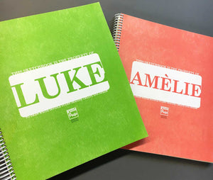 Extra-Large Personalized Sketchbook in Green