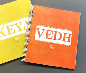 Extra-Large Personalized Sketchbook in Orange
