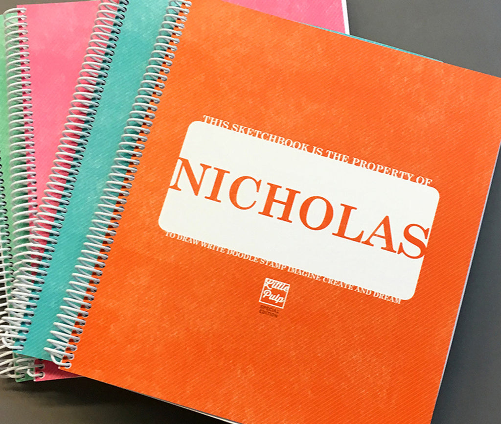 Custom Kids Sketchbook ORANGE