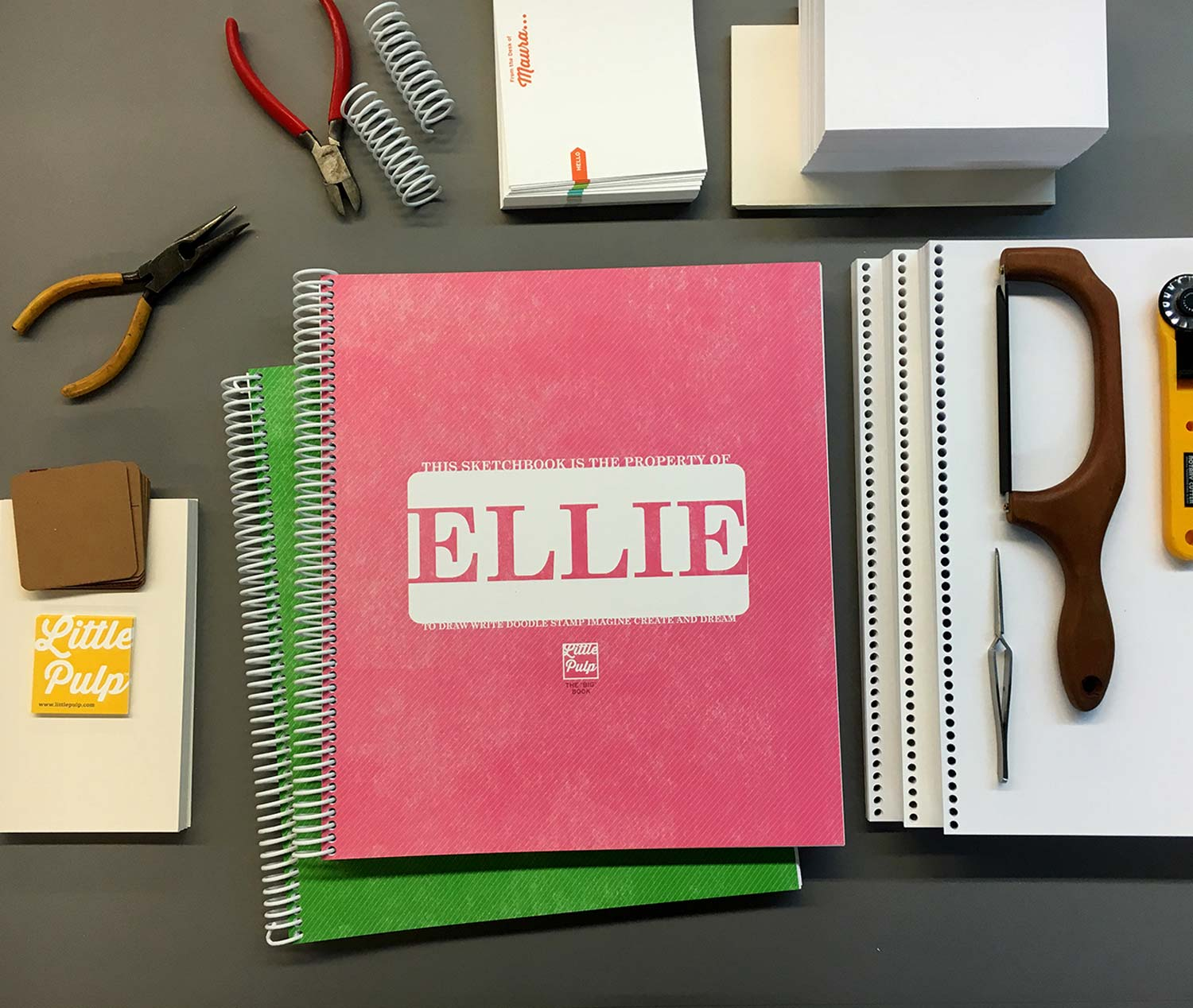 Extra-Large Personalized Sketchbook in Pink
