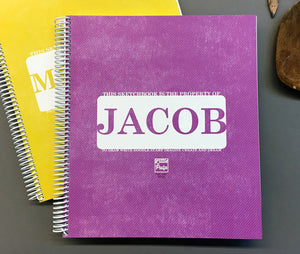 Extra-Large Personalized Sketchbook in Purple