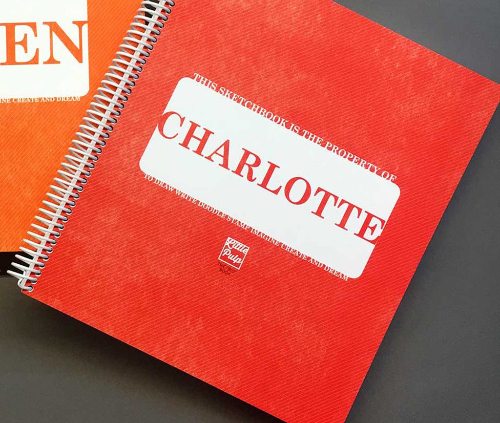 Custom Kids Sketchbook RED