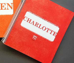 Extra-Large Personalized Sketchbook in Red