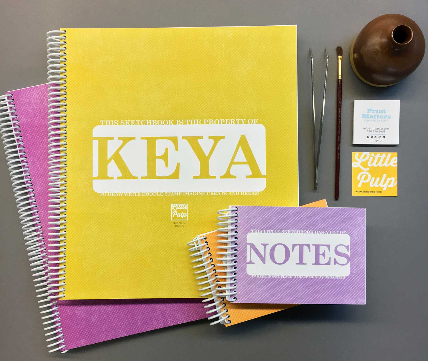 Extra-Large Personalized Sketchbook in Yellow