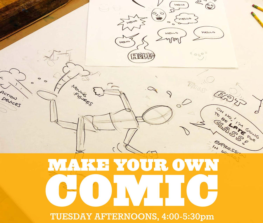 Make your own Comic, Tuesdays 4:00-5:30pm