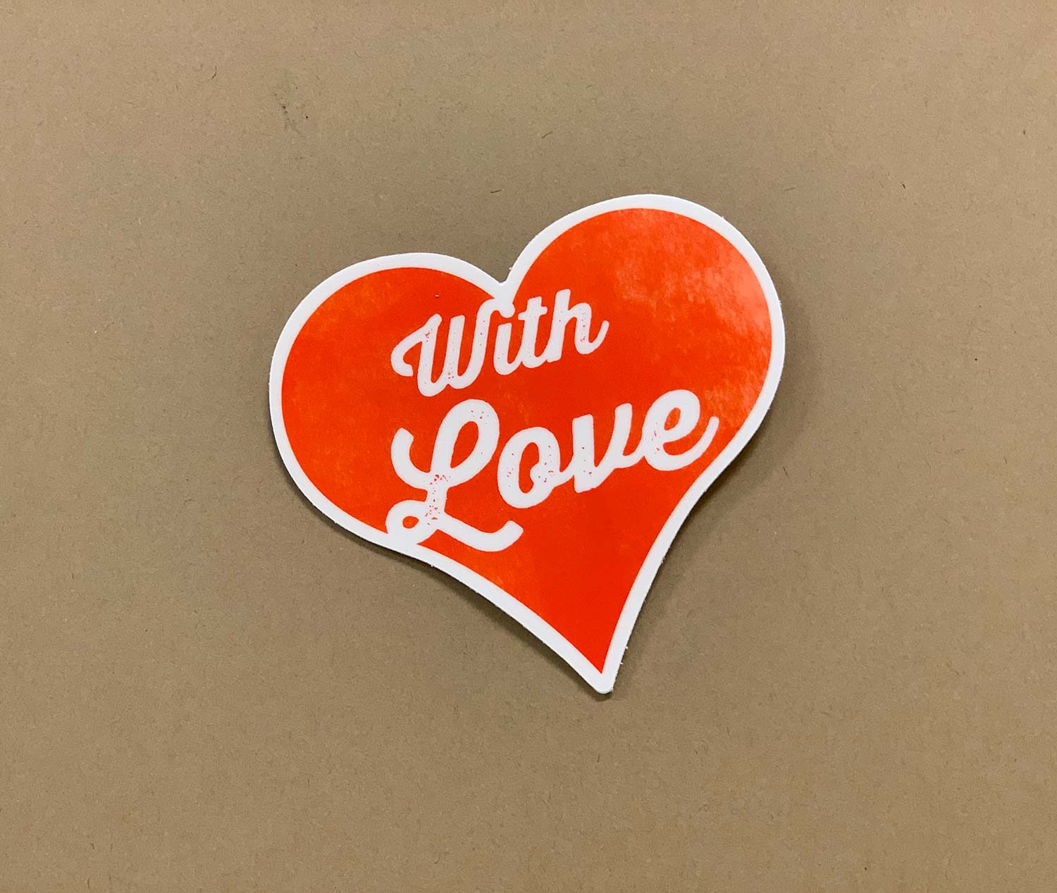 With Love Sticker