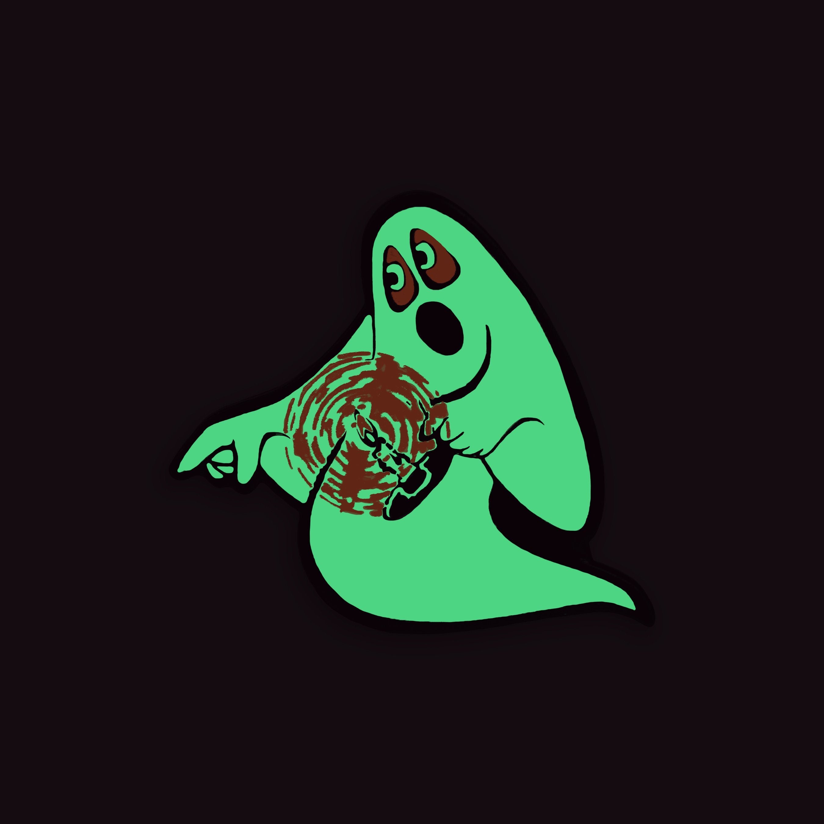 Beistle® Candle Ghost Enamel Pin