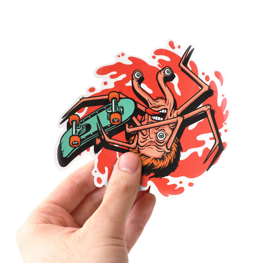 Alien Skateboard Jumbo Sticker
