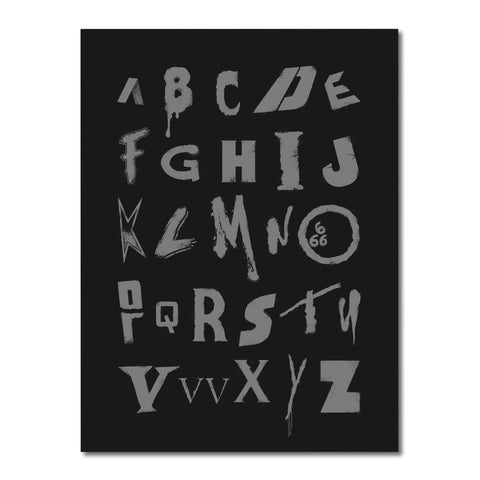 Alphabet of Horror Screen Print