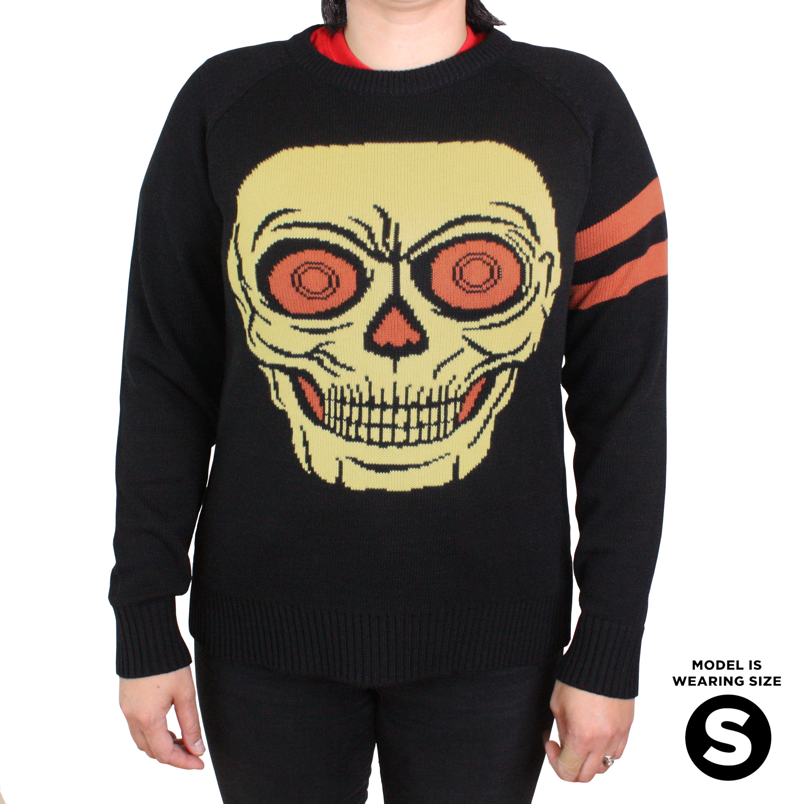 Beistle Lantern Skull Knit Sweater