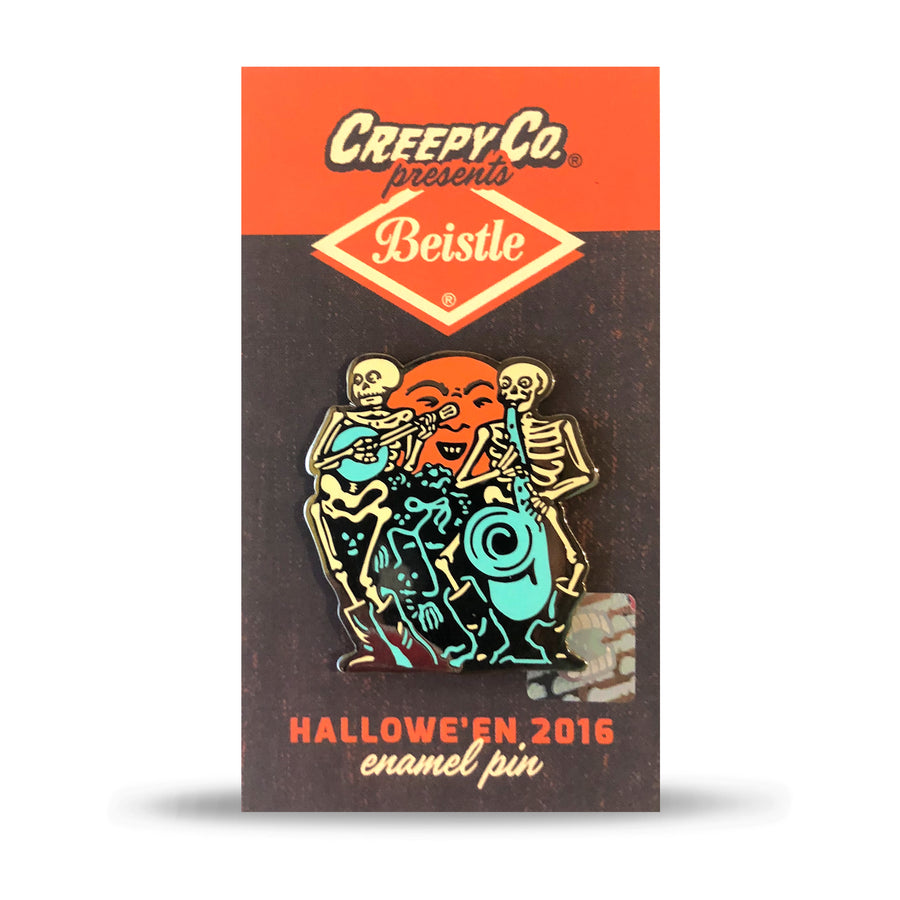 Beistle® Skeleton Band Enamel Pin (Halloween 2016)