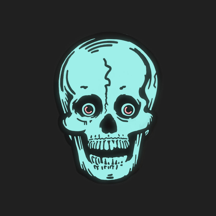 Beistle® Glow-in-the-Dark Skull Enamel Pin (Halloween 2017)