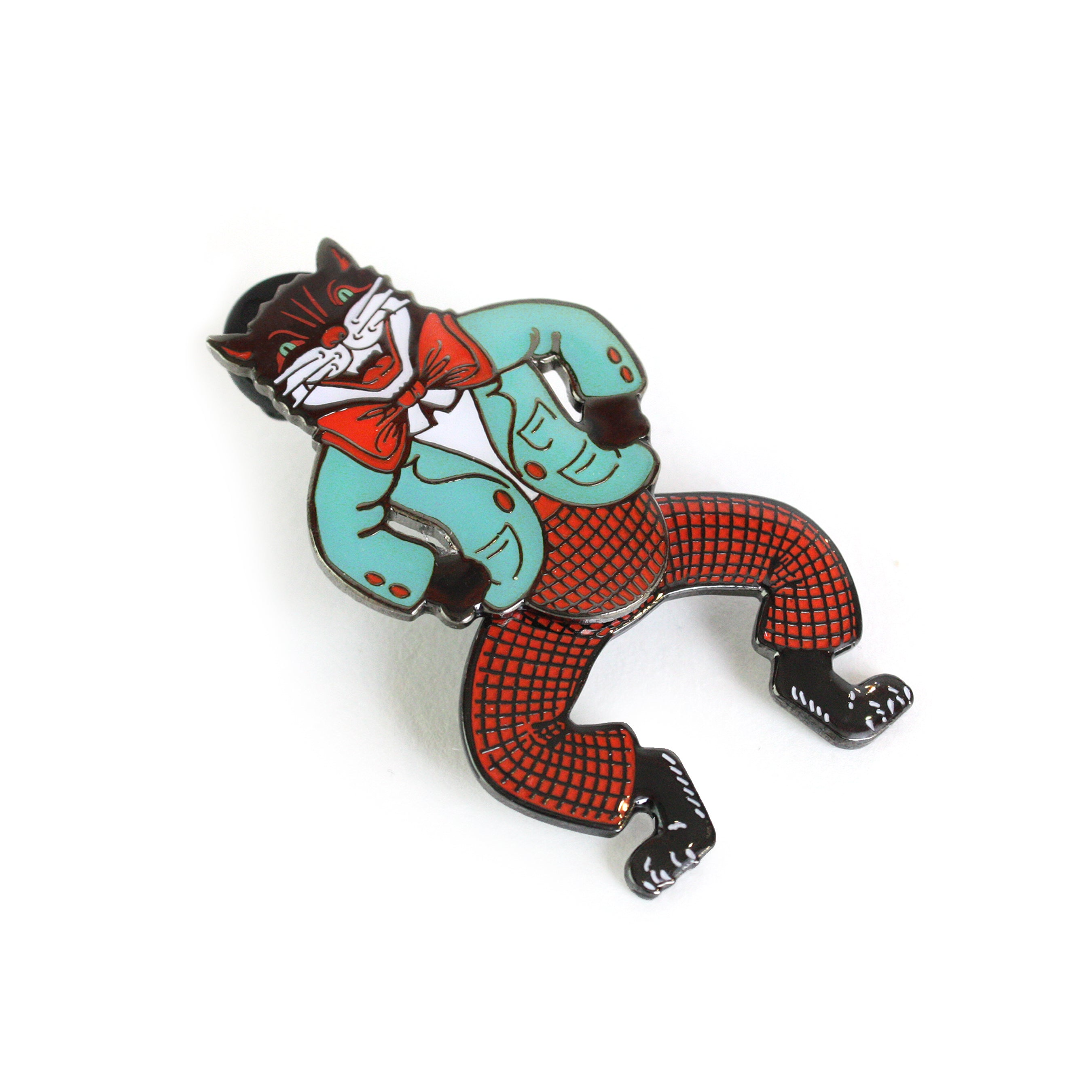 Beistle Swinging Cat Enamel Pin
