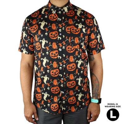 Beistle® Graveyard Gourd Button-Up Shirt