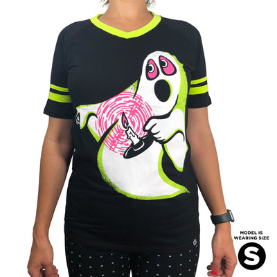 Beistle® Neon Candle Ghost Jersey Tee