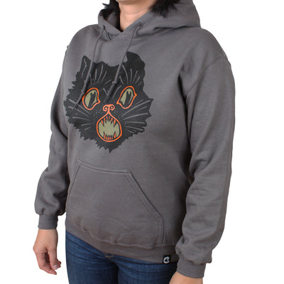 Beistle® Gray Scratch Cat Pullover Hoodie