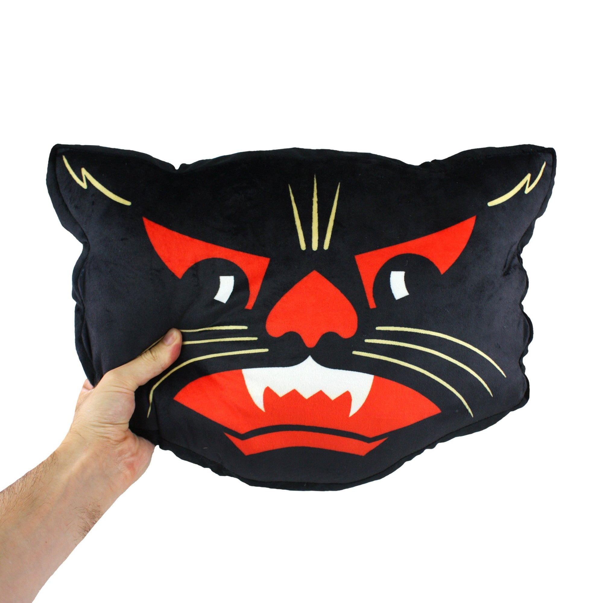 Beistle 174 Two Faced Scratch Cat Plush Cushion Creepy Co