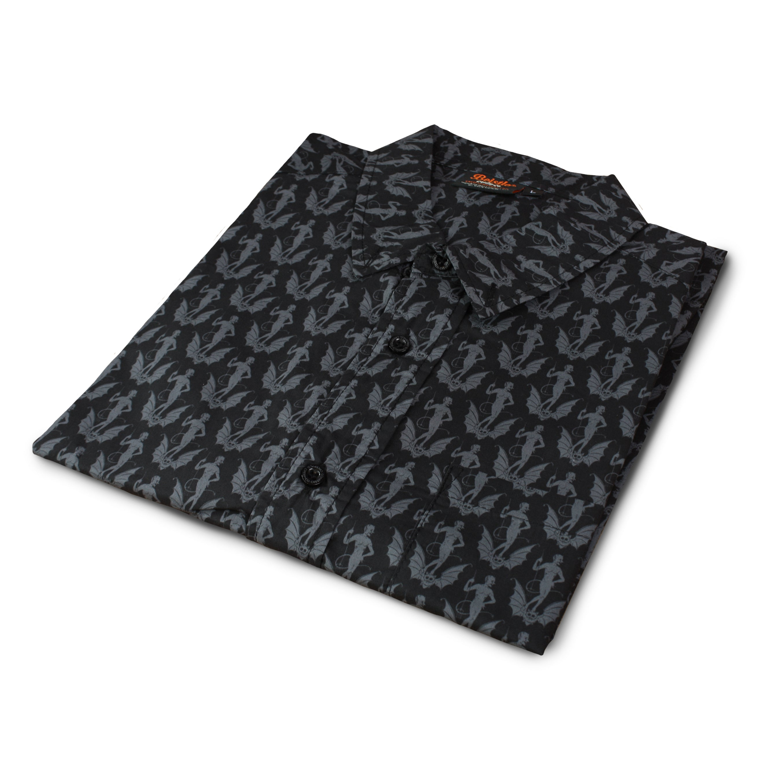 Beistle® Devil Bat Button-Up Shirt