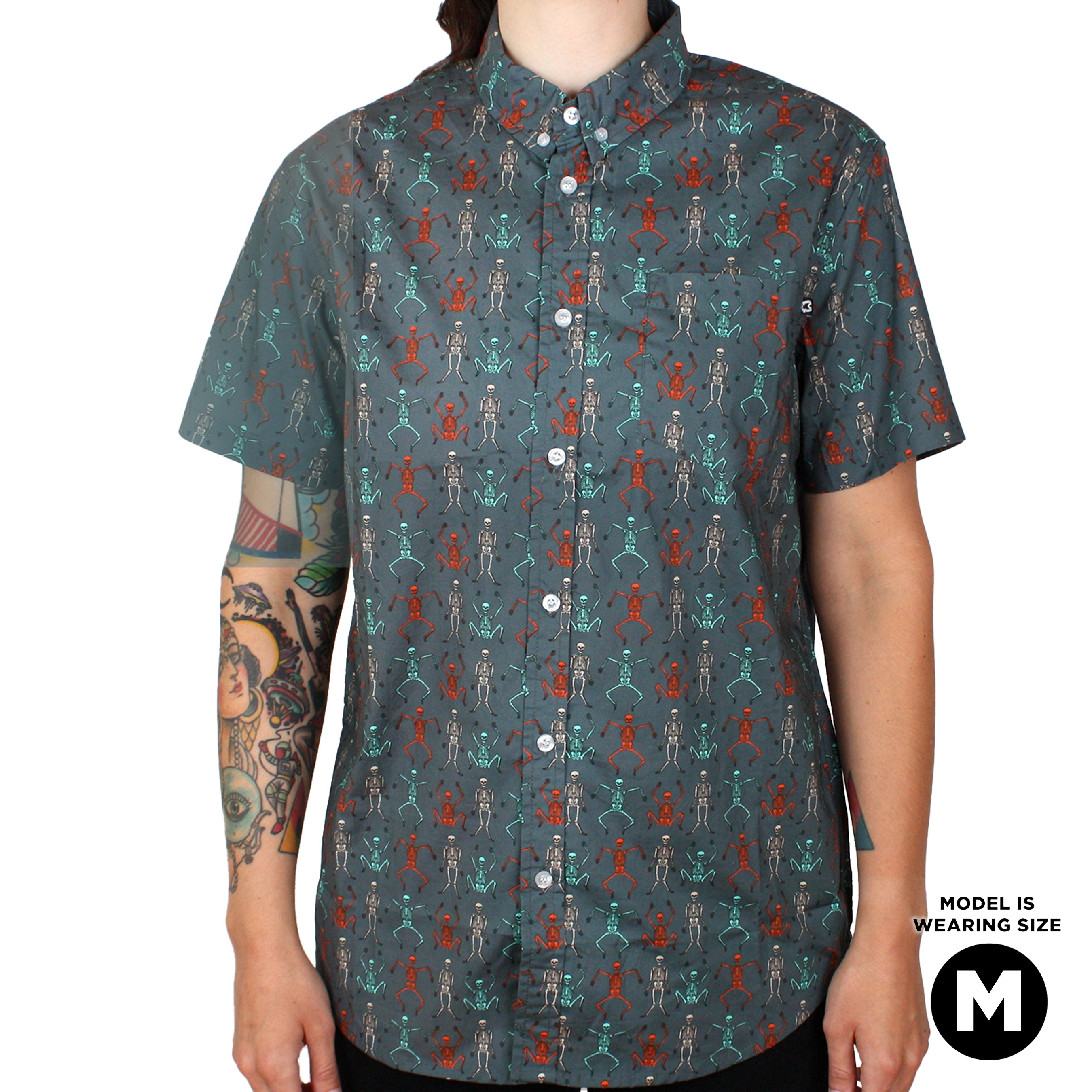 Beistle® Dancing Skeletons Button-up Shirt