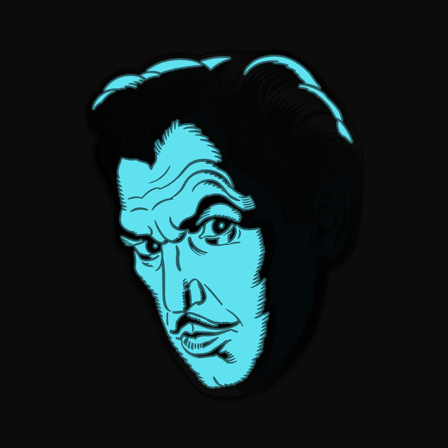 "Vincent Price ""Phosphorescent Pallor"" Enamel Pin - Creepy Co."