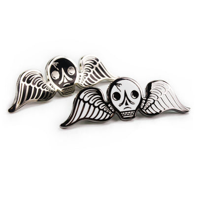 Cemetery Angel Enamel Pin