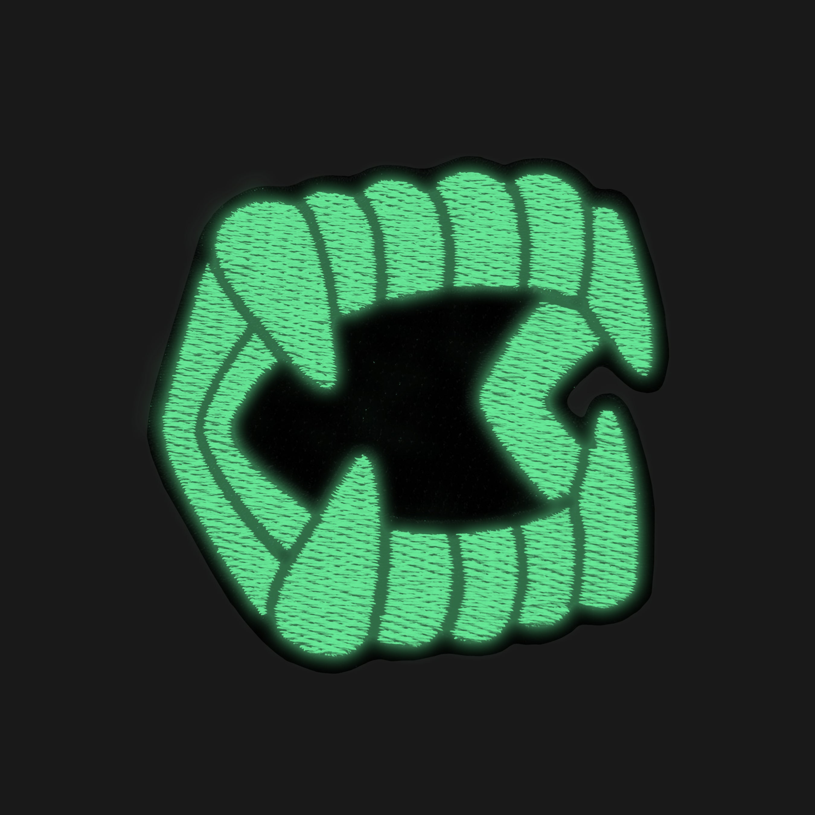 Glow in the Dark Chompers® Patch