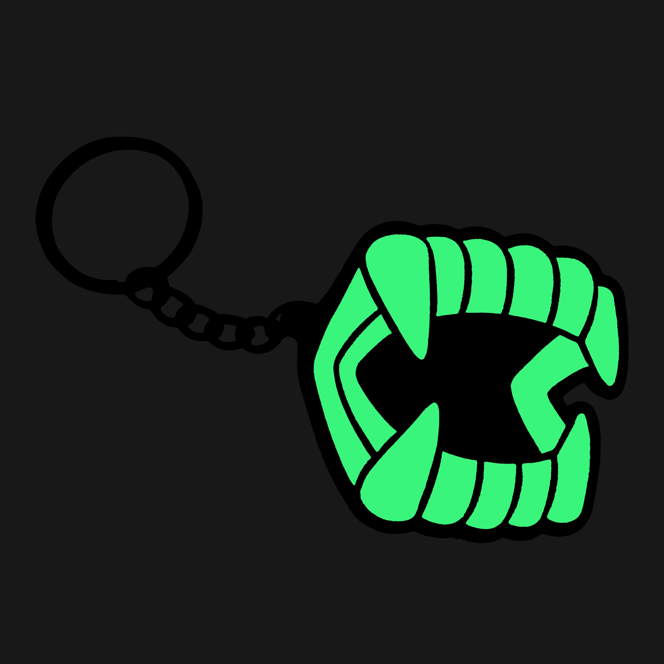 Chompers® Glow-in-the-Dark Keychain