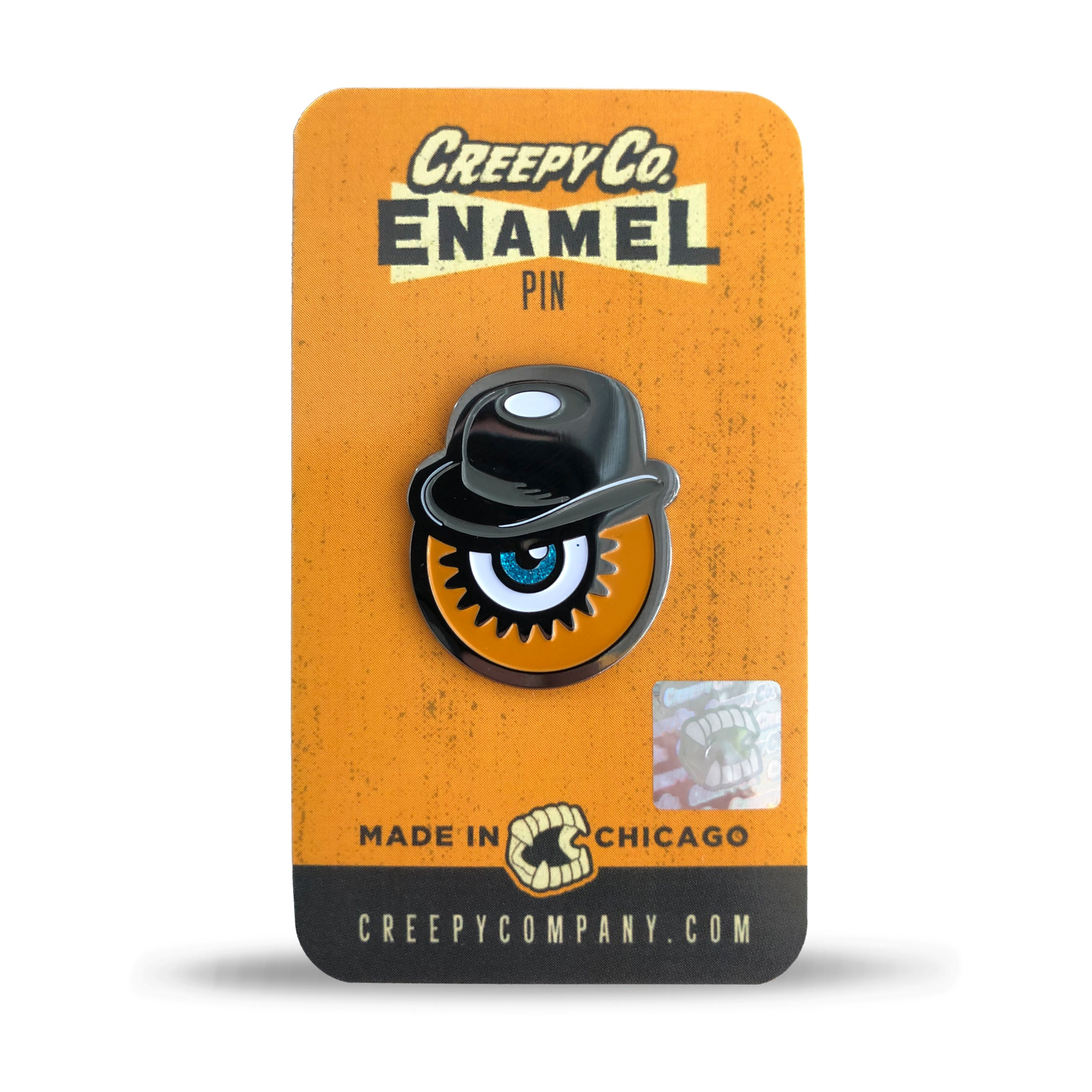 Ultra-Violent Orange Enamel Pin (2015)