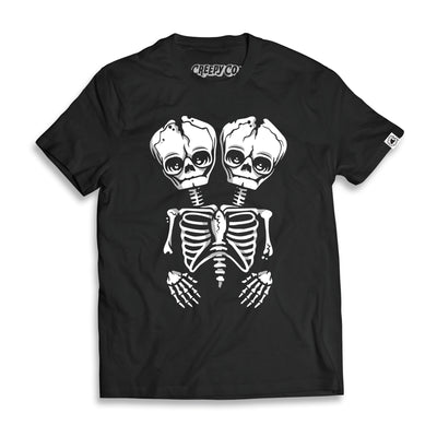 Conjoined Skeleton Unisex Tee