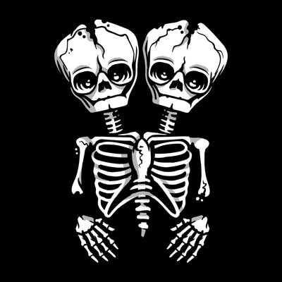 Conjoined Skeleton Unisex Shirt - Creepy Co.