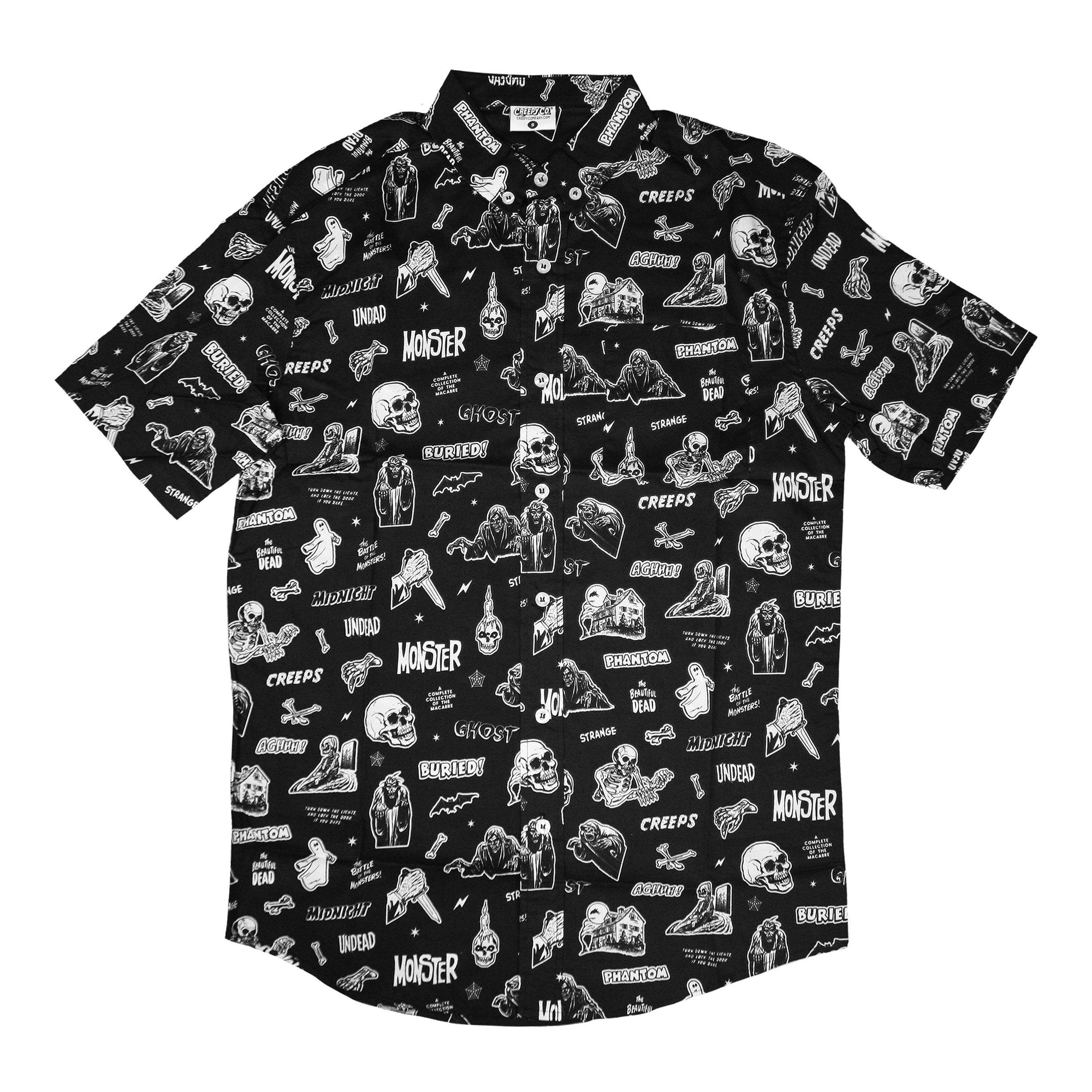 483104d8 Vintage Horror Comix Button-Up Shirt - Creepy Co.